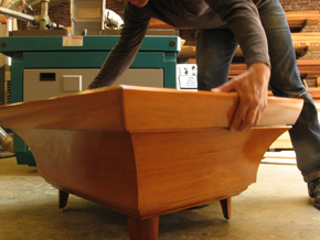 An example of Ray's custom furniture